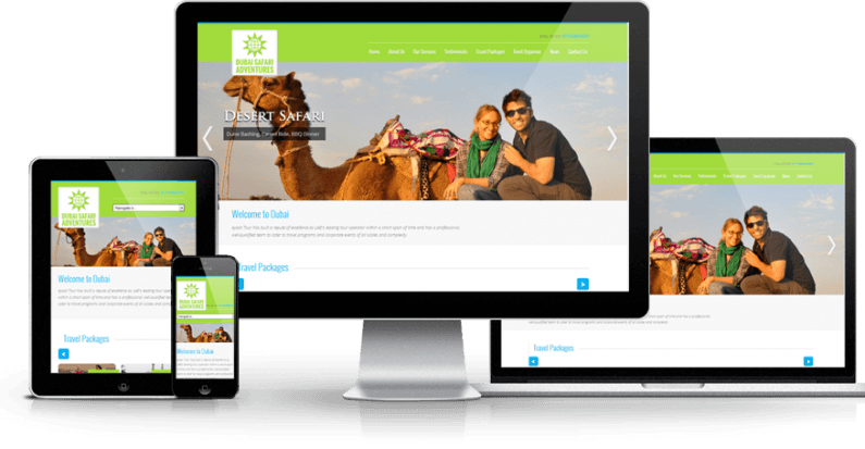 Dubai Safari Adventures New Website Launch