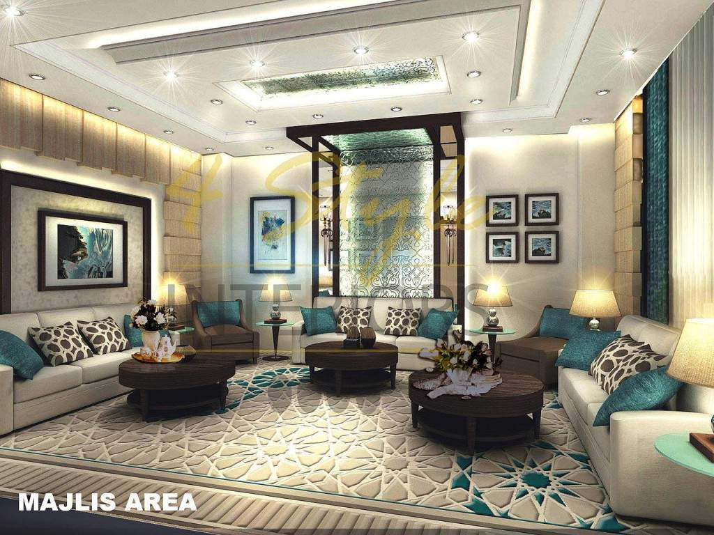 Showcase of majlis designs in uae for Modern house uae
