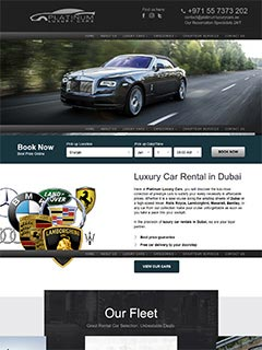 Platinum Luxury Cars , UAE Company